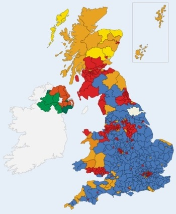 UK Election Map at The Times